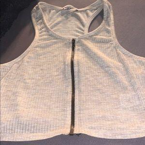 Charlotte Russe Zipper Crop Top